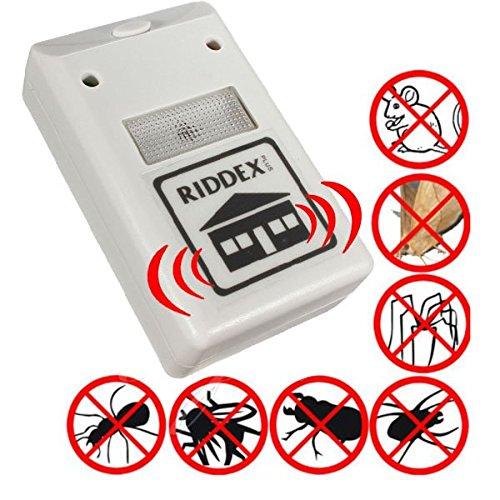 L'originale Riddex Plus - Repellente elettronico elettromagnetico ad ultrasuoni - Respinge senza l'utilizzo di prodotti chimici, inodore, non fa rumore...