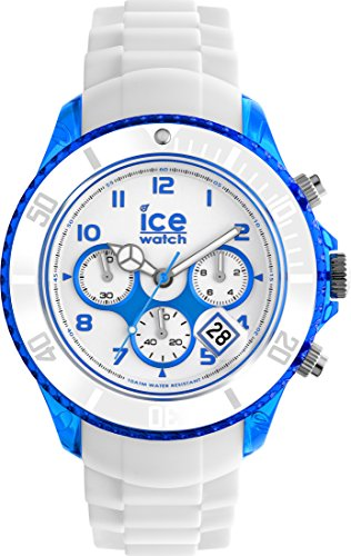 Ice-Watch - ICE Chrono party Curaçao - Reloj bianco para Hombre con Correa de silicona - 013717 (Extra Large)