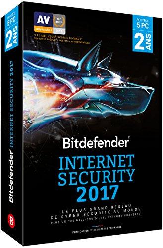 Bitdefender Internet Security 2017 (5 appareils, 2 ans)