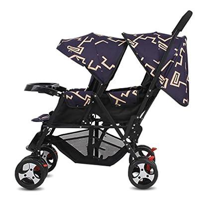 Cochecito gemelo Baby Trend Plegable y multifuncional Pram Jogger Sentarse o ponerse de pie Gran regalo para las muchachas y el muchacho