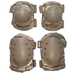 genou rigide kit coudières de protection sport airsoft multicam