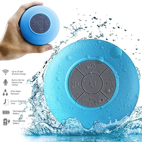 Drahtlose wasserdichte Bluetooth Lautsprecher Freisprecheinrichtung Badezimmer Dusche / Auto Lautsprecher mit eingebautem Mic für Htc Quattro, Htc Radar, Htc Rezound, Htc Rhyme