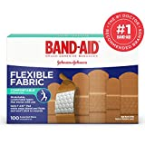 band-aid brand flessibile tessuto bende adesive per ferite e primo soccorso, misure assortite, 100ct