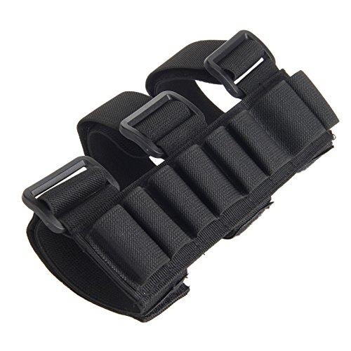 Jagd 8 Runde Schrotflinte Shell Patronengürtel 12 Gauge Munition Halter für Arm-Schwarz -