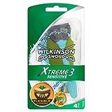 Wilkinson Sword Xtreme 3 Sensitive 811273, Maquinillas de Afeitar Desechables, Pacco dà 6 (4 Unidades+ 2 Gratis)