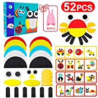 Vykor Puzzle Jigsaw Kids Wooden Shape Puzzle Toys Baby Puzzle Games Pattern Blocks and Boards with Animals Shapes Puzzle Cards, Educa Jigsaw Puzzles Age 2 3 Basic Shape Puzzle Colour For Toddlers Kids