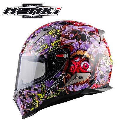 ETbotu ukJX-Auto1117-E67E3BD88E Fahrradhelm, M, Ghost Purple Flower M