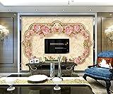 BZDHWWH Marmor-Mosaik-Tapete Im Europäischen Stil Wandbild Des Hotelrestaurant-Wohnzimmer-Fernsehsofa-Wand-Schlafzimmers 3D,12'5