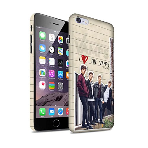 Offiziell The Vamps Hülle / Matte Snap-On Case für Apple iPhone 6+/Plus 5.5 / Pack 5pcs Muster / The Vamps Geheimes Tagebuch Kollektion Band