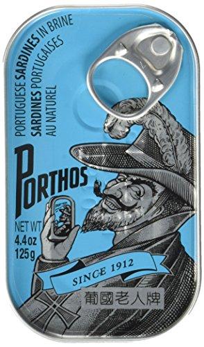 Porthos Portugiesische Sardinen ohne Öl, 3er Pack (3 x 125 g)