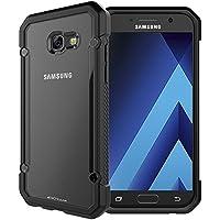 TECHGEAR® [FUSION ARMOUR] Coque Protective Svelte Anti-Choc pour Samsung Galaxy A5 2017 (Séries SM-A520) (Noir/Givré)