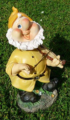 Lustiger Gartenzwerg mit Wackelkopf gelbe Mütze 22 cm bunte Zwerg Figuren für Haus und Garten Gnom Mütze Blau