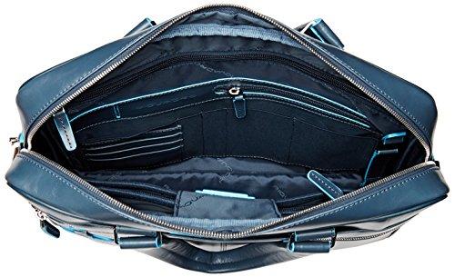 Piquadro Blue Square 15 '' Aktentasche mit Laptop-Fach, Schwarz - CA2849B2 avio3