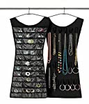 Enjoy beautifying and organize your necklaces, broche, earrings, clips, hair accessories all in one place! 32 clear vinyl pockets in the front. 18 hook & loop tabs at the back. Material- Non-woven fabric + A grade transparent PVC. Hang it like a ...