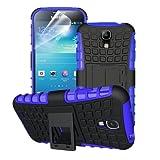 betterfon | Outdoor Handy Tasche Hybrid Case Schutz Hülle Panzer TPU Silikon Hard Cover Bumper für Samsung Galaxy S4 Blau