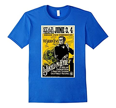 Men's Dr Jekyll and Mr Hyde T-Shirt Vintage Movie Poster
