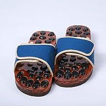 Gleader Un Par x Zapatillas Rayados para Cuidado de Salud Masaje de Punto de Acupuntura para Senoras GLx5me