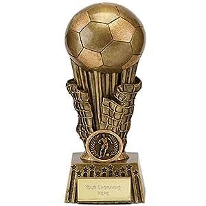 20.32 cm, Focus, mit Fußball-Trophäe, mit personalisierbarer Gravur (bis zu 30 Buchstaben A1621D
