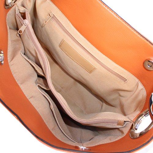 Silver Fever, Borsa a spalla donna (Light Orange)