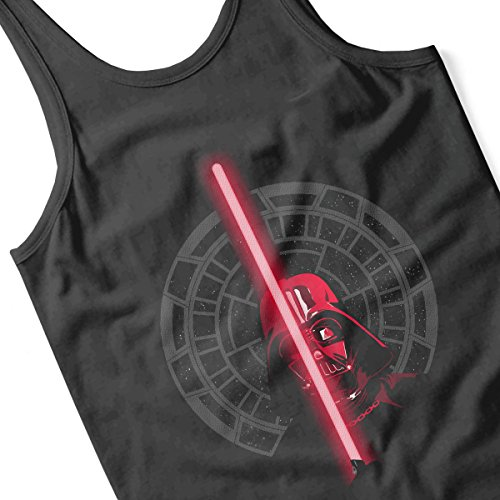 Star Wars Darth Vader Dark Side Red Light Saber Men's Vest Black