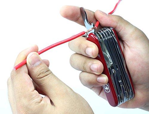 Victorinox Ranger Camping Swiss Army Pocket Knife, Medium, Multi Tool, 21 Functions, Blade, Scissors, Red