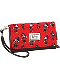 Karactermania 36377 Disney Classic Minnie Cheerful Monederos, 20 cm, Rojo