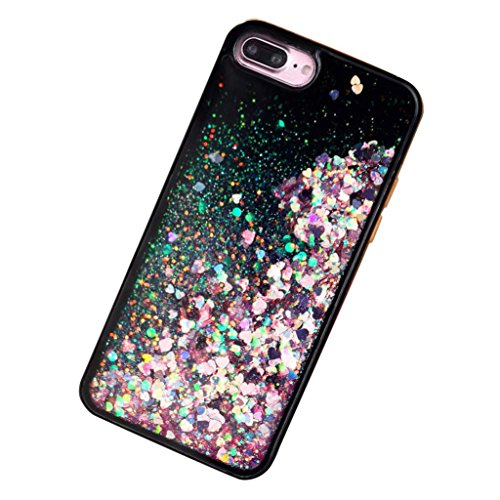 Ouneed® For iPhone 7 Plus Hülle, 3D Dynamic Liquid Quicksand Glitter Star Heart Case Cover für iPhone 7 Plus 5.5 Zoll (5.5 Zoll, A) F