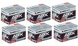 Agfa APX 100 135-36 Schwarz-Weiß-Film, 6 Stück