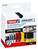 Tesa 55229-00001-02 Klettband, extrastark, Schwarz