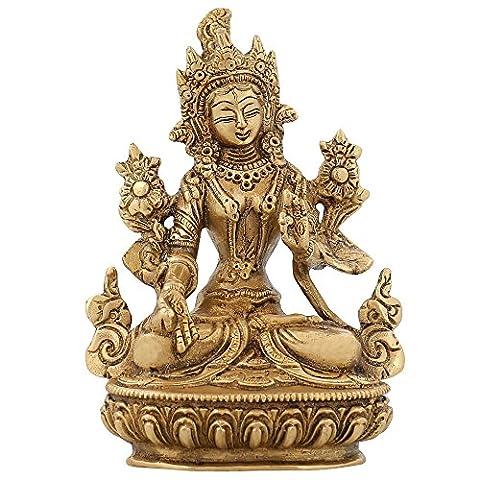 Bouddha Tara Statue bouddhiste Figurine Décor religieux pour Home Brass