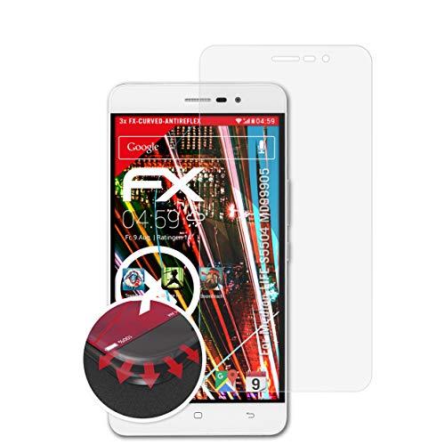 atFolix Schutzfolie passend für Medion Life S5504 MD99905 Folie, entspiegelnde & Flexible FX Bildschirmschutzfolie (3X)