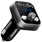 FM Transmitter for Car bluetooth, Obstaro Bluetooth Fm Transmitters, Wireless Car Radio Adpter, MP3 Player Stereo Music Adapter Car kit with Dual USB Car Charger,Hands Free for Iphone, Ipad,Smartphone (Black)