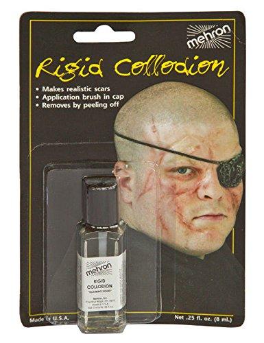 Mehron Make-Up Narben-Flüssigkeit transparent 4ml (Mörder Verrückte Kostüm)