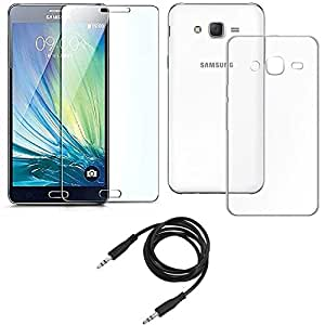 NIROSHA Tempered Glass Screen Guard Cover Case for Samsung Galaxy ON5 - Combo