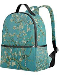 Mochila Escolar para niñas Van Gogh Blossoming Almond Tree Student Bookbags Bolsa de Viaje
