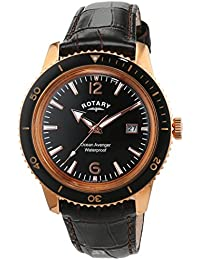 amazon co uk rotary watches outlet watches rotary men s quartz watch black dial analogue display and brown leather strap