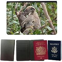 Cubierta del pasaporte de impresión de rayas // M00135355 Koala