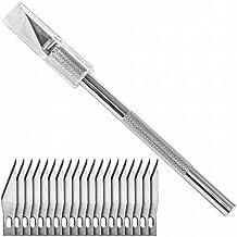 Bastelmesser mit 20 Skalpell Ersatzklingen Typ #11 Cutter Hobbymesser von Washati