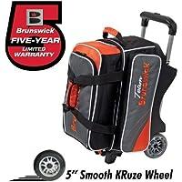 Team Brunswick 2 Ball Roller Bowling Bag- Slate/Orange by Brunswick