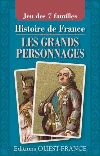 Jeu 7 Famille grands personnages de l'Histoire de France