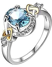 3488f4c5083d Emorias 1 Pcs Anillo de Plata Marry Pareja Compromiso Joyas Diamante Grande Joyeria  Mujer Moda Chica Amor…