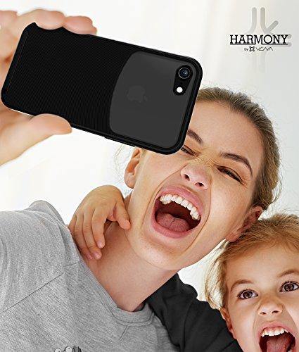 "iPhone 7Fall, VENA [Harmony] Wave Textur [Hybrid transparent Rückseite Panel] [cornerguard Drop Proof] Slim Fit Hülle für Apple iPhone 7(11,9cm "") Jet Black/Black"