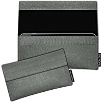 SIMON PIKE Samsung Galaxy S8 Filztasche Case Hülle 'NewYork' in elefantengrau 1, passgenau maßgefertigte Filz Schutzhülle aus echtem Natur Wollfilz, dünne Tasche im schlanken Slim Fit Design für das Galaxy S8
