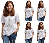 Famous place hand drawing Print 100% Cotton V-Neck Short Sleeves T-shirt WTS_16