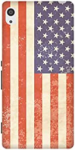The Racoon Grip Vintage American Flag hard plastic printed back case / cover for Sony Xperia Z2