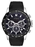 s.Oliver Herren Multi Zifferblatt Quarz Uhr mit Silikon Armband SO-3489-PM