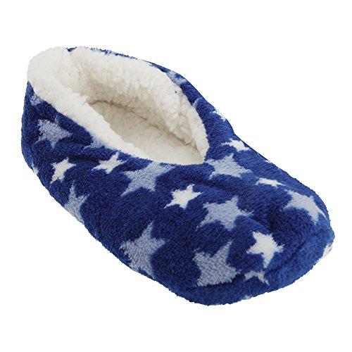Pantofole Invernali con Disegni Assortiti - Donna Leopardo turchese