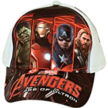 Sun City Avengers-Gorra para niño, color rojo (5 años, talla fabricante: del 4 al 7 años)
