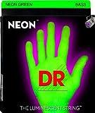 DR STRINGS - farbige Bass-Saiten - Neon Grün - 5 Saiter - 045 - 125