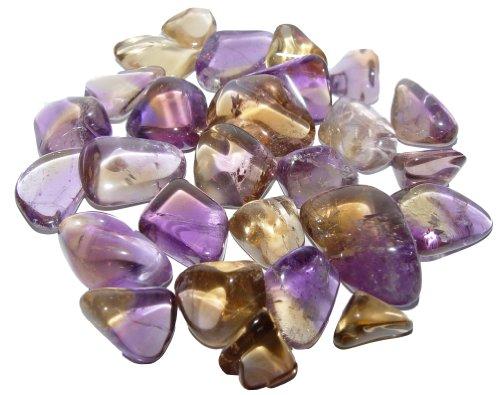 Ametrin Nr. 2476 Trommelsteine 20 Gramm - 3 - 6 Steine, schöne kleine Handschmeichler
